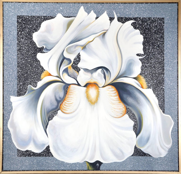 Artist: Lowell Blair Nesbitt, American (1933 - 1993) Title: The Winter Iris Year: 1986 Medium: Oil on Canvas, signed and dated verso Size: 54 in. x 54 in. (137.16 cm x 137.16 cm) Frame Size: 56.25 x 56.25 inches