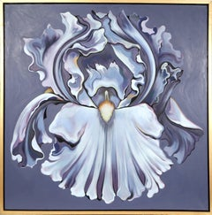 Violet Iris, large Flower Oil Painting by Lowell Nesbitt