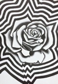Electric Rose, 1976 Lithograph, Lowell Nesbitt