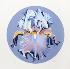 Iris on Blue III