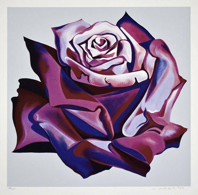 Purple Rose - Print by Lowell Nesbitt