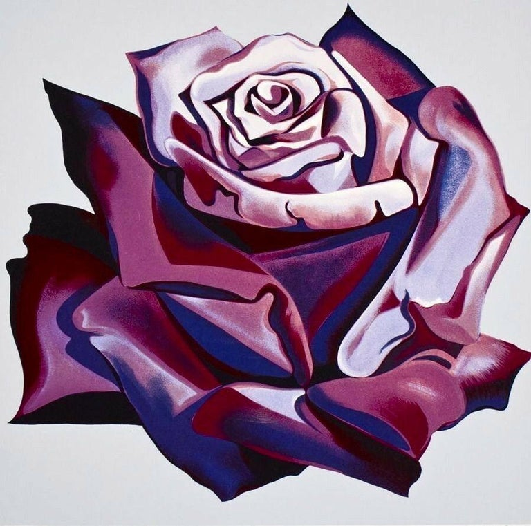 Lowell Nesbitt Still-Life Print - Purple Rose