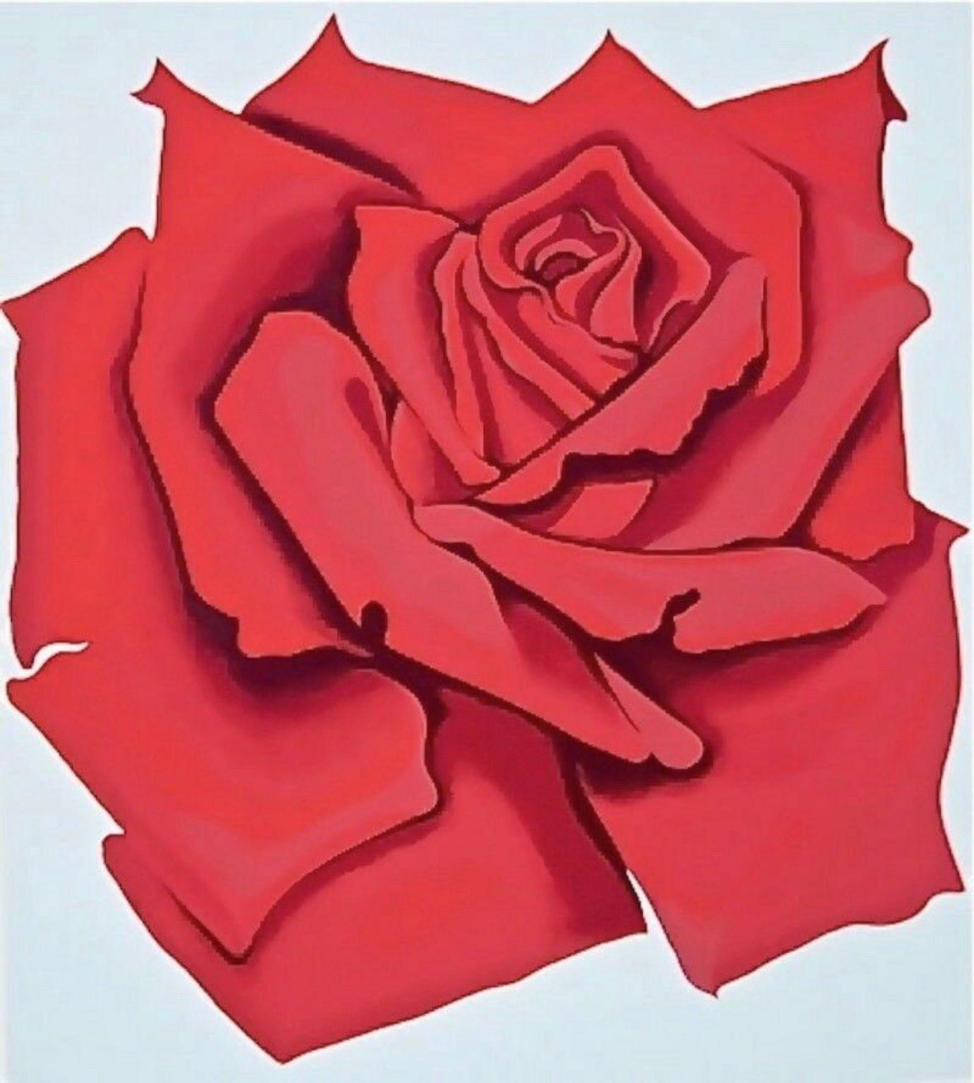 Red Rose, Limited Edition Silkscreen, Lowell Nesbitt