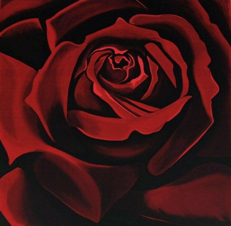 Lowell Nesbitt Still-Life Print - Rose