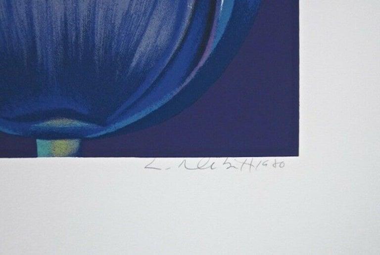 Violet Monochrome - Print by Lowell Nesbitt
