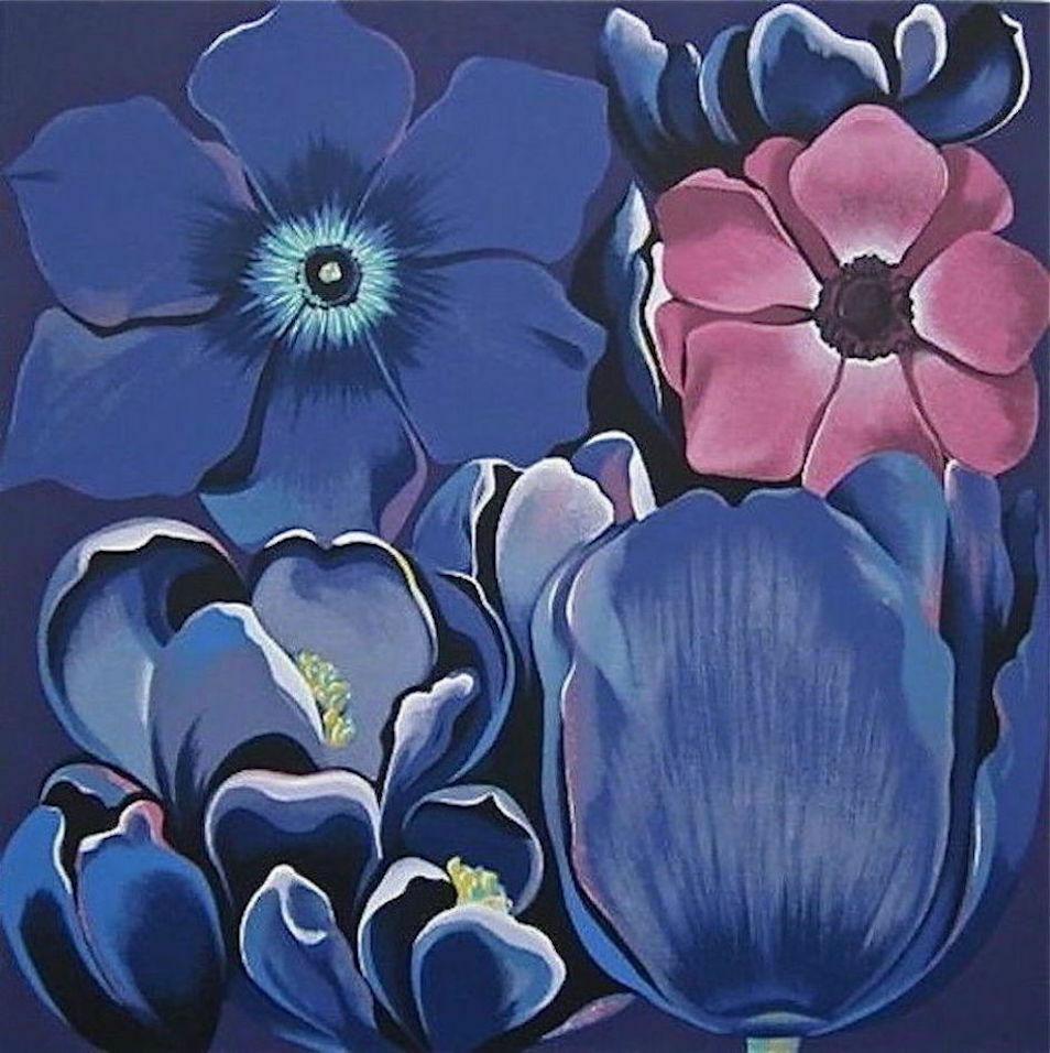 Violet Monochrome, Limited Edition Silkscreen, Lowell Nesbitt