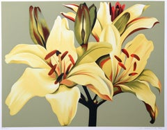 Yellow Lilies on Green