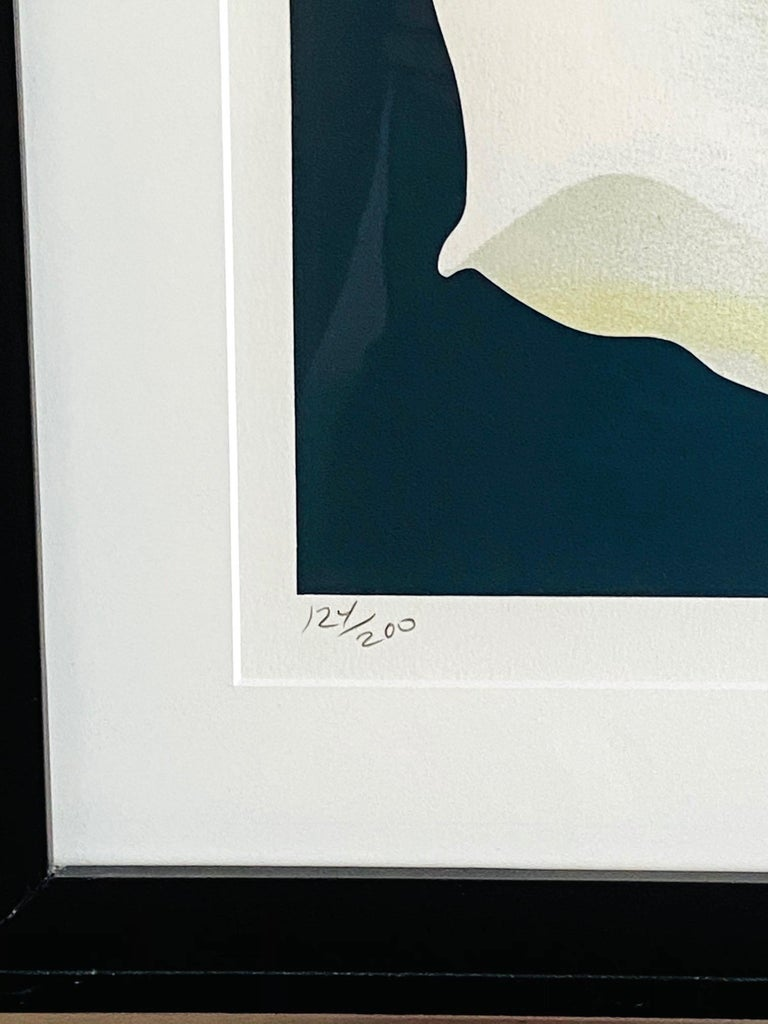 Lowell Nesbitt White Rose Limited Edition Lithograph in Custom Frame, circa 1981 For Sale 3