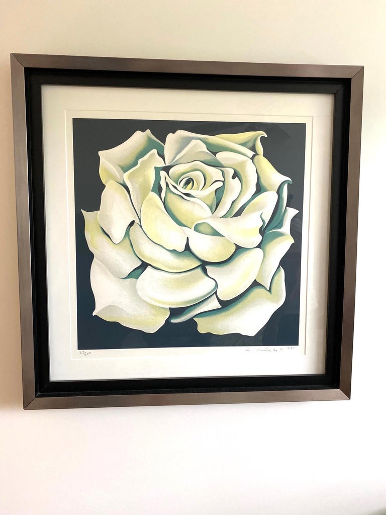 Lowell Nesbitt (1933-1993) White rose, circa 1981 Limited edition # 124 / 200 Artist-signed and numbered Measures: 34.5
