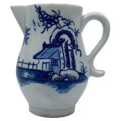 Lowestoft Porcelain Sparrow Beak Jug, c 1765
