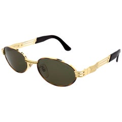 Lozza golden oval vintage sunglasses 80s