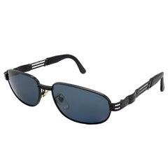 Lozza large black sunglasses 80s