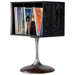 LP Record Storage Cabinet on Saarinen Style Tulip Base by Quadraspire