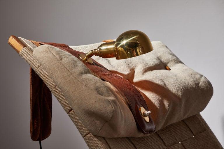 Brass Lp01 Armchair Lamp by Luigi Caccia Dominioni for Azucena For Sale