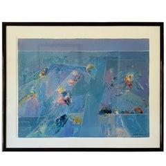 Lrg Watercolor by Colorado Artist Keith Finch, 1919-1993