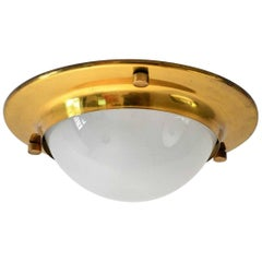 """LSP6"" Tommy Luigi Caccia Dominioni by Azucena 1960s Brass Flush Mount Lamp"