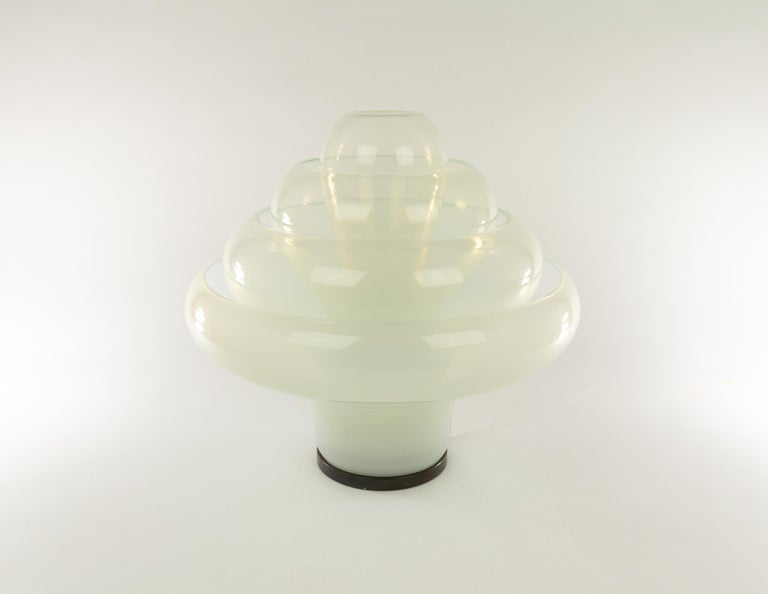 Mid-Century Modern LT 305 Table Lamp in Murano Glass by Carlo Nason for A.V. Mazzega, 1960s For Sale
