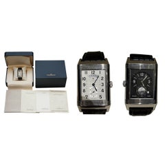 Ltd Edition Jager Lecoultre Grand Reverso 986 Duodate Double Sided Wristwatch