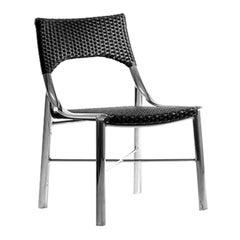 Lua Brazilian Contemporary Outdoor Metal and Fiber Chair by Lattoog