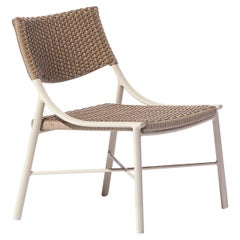 Lua Brazilian Contemporary Outdoor Metal and Fiber Easychair by Lattoog