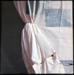 Contemporary Photography, Archival Print on Silk, Hand Stitched Embellishments
