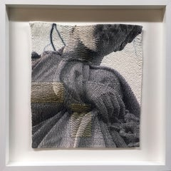 """Glance"", Archival Digital Print Photography on Hand Stitched Cotton, Framed"