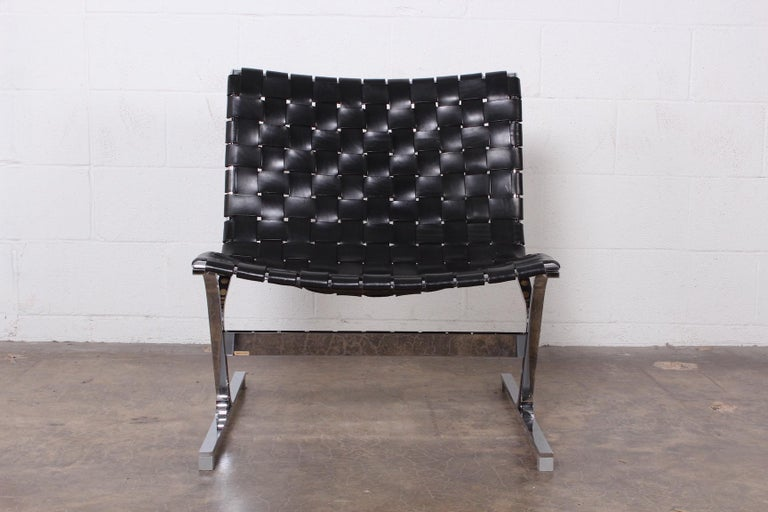 'Luar' Leather Lounge Chair by Ross Littell For Sale 3