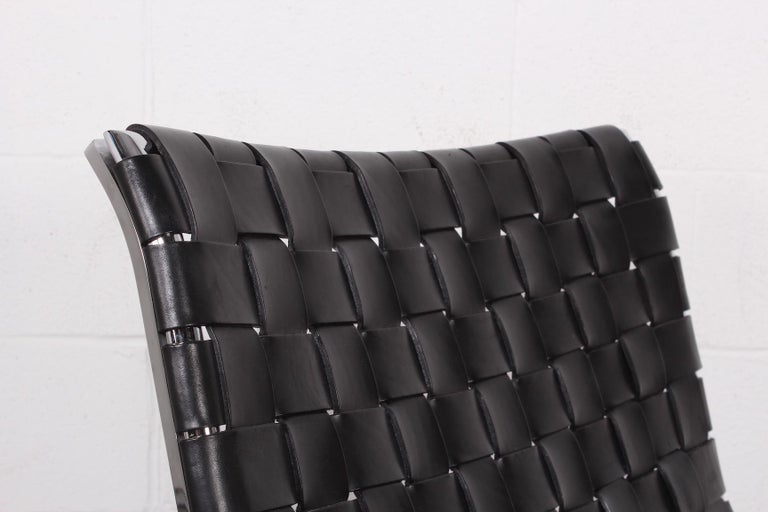 'Luar' Leather Lounge Chair by Ross Littell For Sale 4