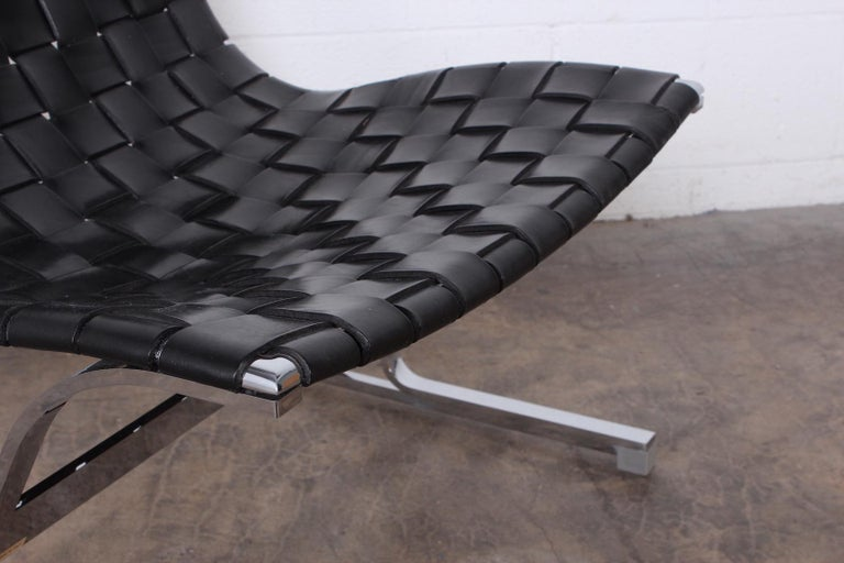 'Luar' Leather Lounge Chair by Ross Littell For Sale 5