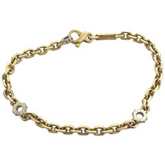 LUC Chopard St. Moritz Bracelet in 18 Karat Yellow and White Gold