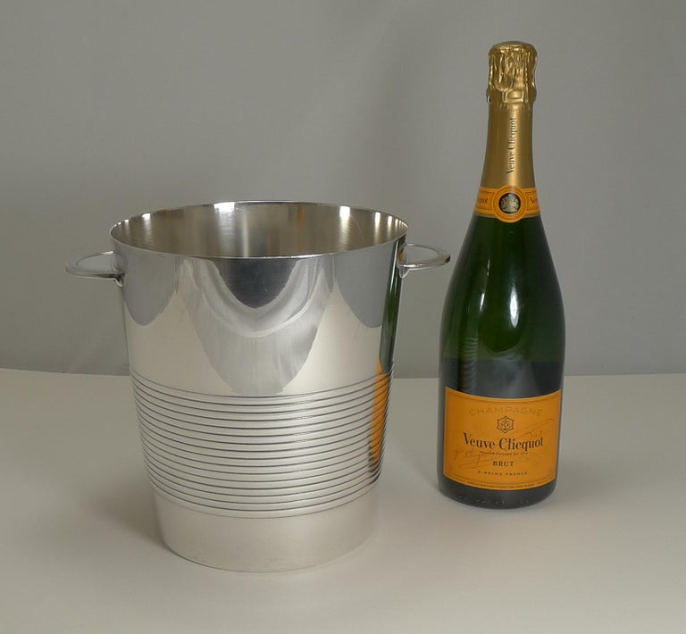 Luc Lanel for Christofle, Champagne Bucket or Wine Cooler, Vulcan, circa 1940 For Sale 4