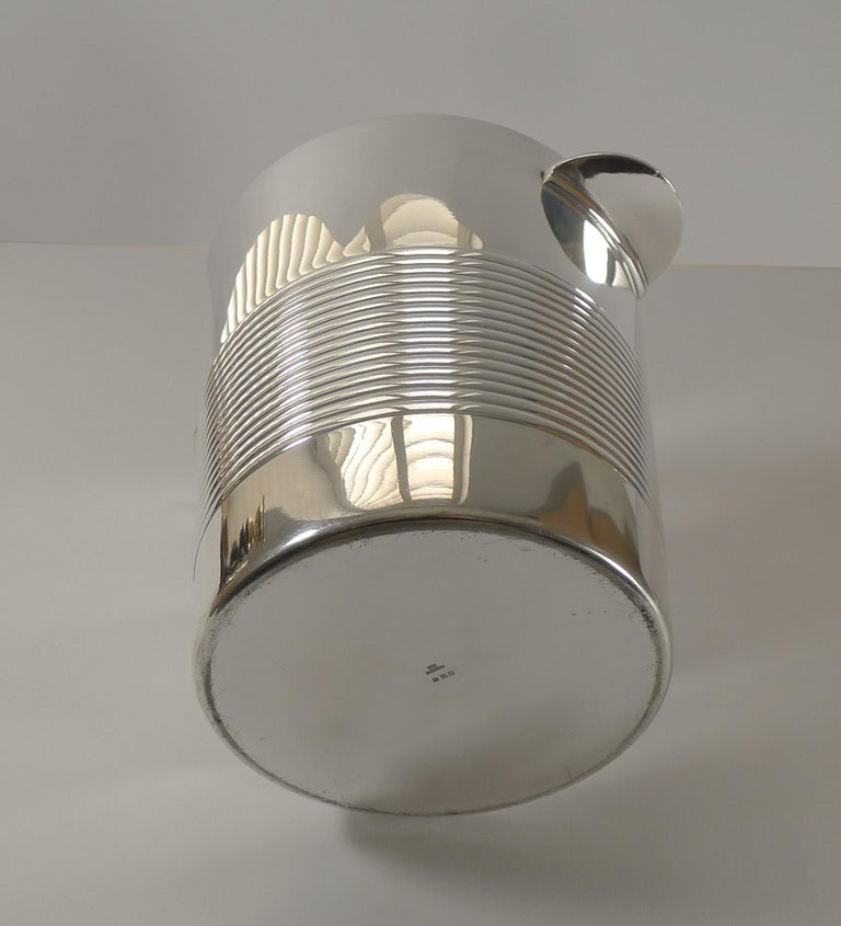 Art Deco Luc Lanel for Christofle, Champagne Bucket / Wine Cooler, Vulcan c.1940 For Sale