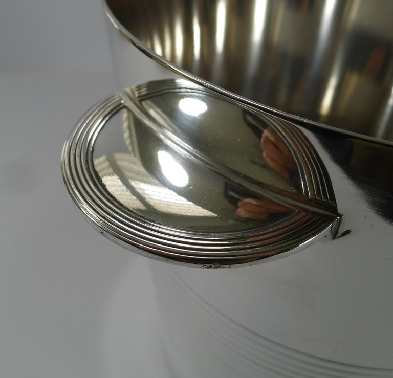 Luc Lanel for Christofle, Champagne Bucket / Wine Cooler, Vulcan c.1940 In Good Condition For Sale In Bath, GB