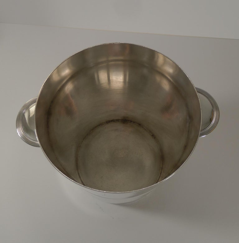Mid-20th Century Luc Lanel for Christofle, Champagne Bucket / Wine Cooler, Vulcan c.1940 For Sale