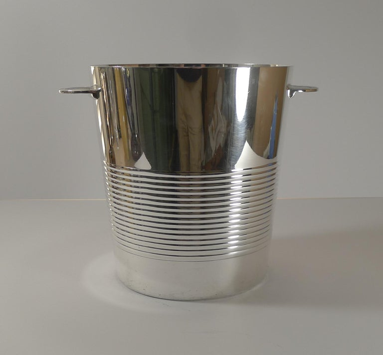 Luc Lanel for Christofle, Champagne Bucket / Wine Cooler, Vulcan c.1940 For Sale 2