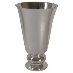 Luc Lanel for Christofle / Gallia, Large Ondulations Vase, c.1935