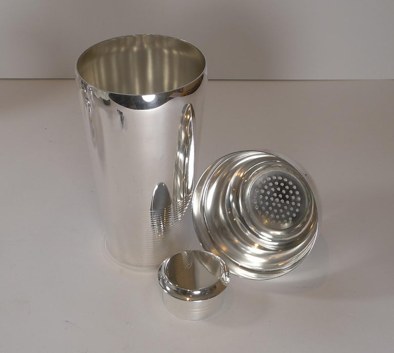 Luc Lanel For Christofle, Ondulations Cocktail Shaker, c.1935 3