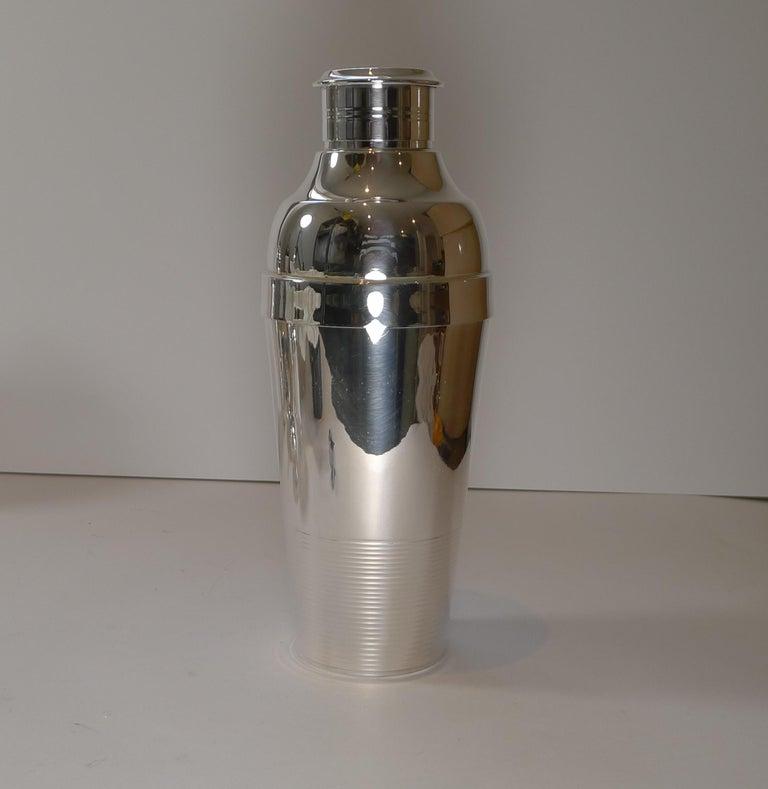 Art Deco Luc Lanel For Christofle, Ondulations Cocktail Shaker, c.1935