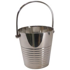 Luc Lanel for Christofle, Ondulations Ice Bucket / Pail, circa 1930s