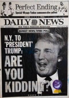 Are You Kidding? Original Donald trump Contemporary 21st Counter propaganda