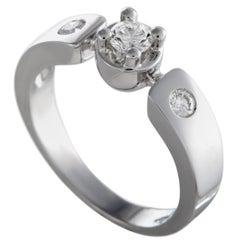 Luca Carati 18 Karat White Gold 3-Diamond Ring