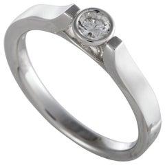 Luca Carati 18 Karat White Gold Diamond Solitaire Ring