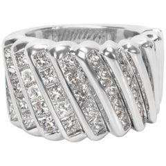 Luca Carati Diamond Fashion Ring in 18 Karat White Gold '4.86 Carat'