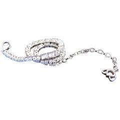 Luca Jouel 18 Carat White Gold Finest White Diamond Lotus Tennis Bracelet