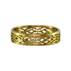 Luca Jouel 18 Carat Yellow Gold Arabesque Patterned Ring