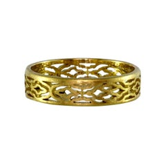 Luca Jouel Arabesque Patterned Ring in Yellow Gold