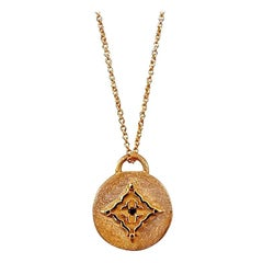 Luca Jouel Black Diamond Necklace in Rose Gold