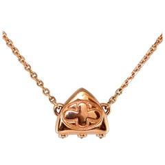 Luca Jouel Black Diamond Petite Arch Necklace in 18 Carat Rose Gold