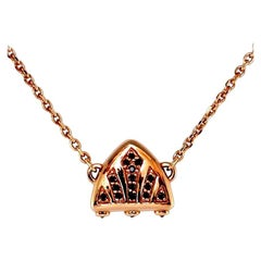 Luca Jouel Black Diamond Rose Gold Symbolic Arch Necklace