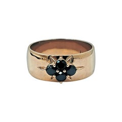 Luca Jouel Black Diamond Starr Band in 18 Carat Rose Gold